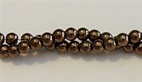 RB155-04mm HEMATITE  METALLIC BRONZE BEADS