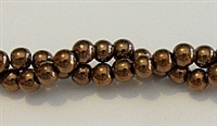 RB155-06mm HEMATITE METALLIC BRONZE BEADS