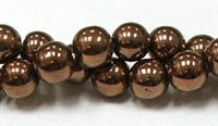 RB155-10mm HEMATITE METALLIC BRONZE BEADS