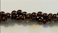 RB157-06 HEMATITE MATALLIC PURPLE BEADS
