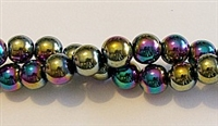 RB156-08-HEMATITE MATALLIC RAINBOW BEADS