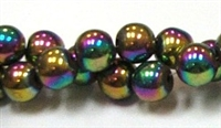 RB156-10-HEMATITE MATALLIC RAINBOW BEADS