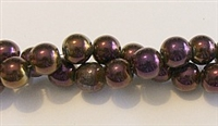 RB157-08 HEMATITE MATALLIC PURPLE BEADS