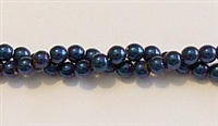 RB158-04-HEMATITE MATALLIC BLUE BEADS