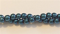 RB158-06-HEMATITE MATALLIC BLUE BEADS