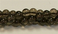 RB237-08mm SMOKY QUARTZ BEADS
