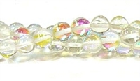 RB524-01-8mm CLEAR MERMAID GLASS BEADS