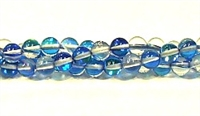 RB524-02-6mm BLUE MERMAID GLASS BEADS