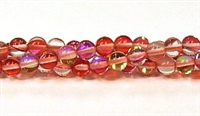RB524-03-6mm RED MERMAID GLASS BEADS