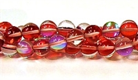 RB524-03-8mm RED MERMAID GLASS BEADS