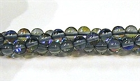 RB524-05-6mm GRAY BLUE MERMAID GLASS BEADS