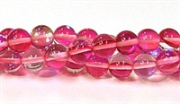 RB524-08-8mm ROSE MERMAID GLASS BEADS