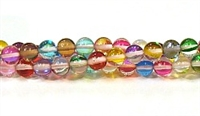 RB524-09-6mm 7 COLORS MERMAID GLASS BEADS