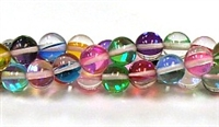 RB524-09-8mm 7 COLOR MERMAID GLASS BEADS