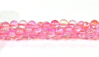 RB524-10-6mm PINK MERMAID GLASS BEADS
