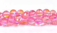 RB524-10-8mm PINK MERMAID GLASS BEADS