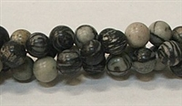 R01-08mm BLACK PICASSO BEADS