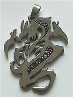 DRAGON PENDANT 2 IN STAINLESS STEEL