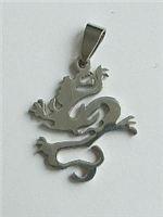 DRAGON PENDANT 3 IN STAINLESS STEEL