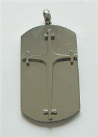 SSP1 STAINLESS STEEL CROSS PENDANT
