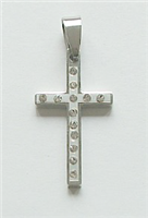 SSP2 STAINLESS STEEL  CROSS PENDANT
