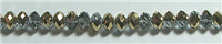 TTM-GDC-6mm GOLD AND SILVER CRYSTAL METALLIC RONDELL BEADS