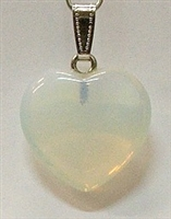 Y6-03 25mm OPALITE HEART PENDANT