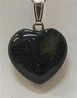 Y6-07 25mm BLUE GOLDSTONE HEART PENDANT