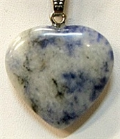 Y6-13 25mm SODALITE HEART PENDANTS-D-02C