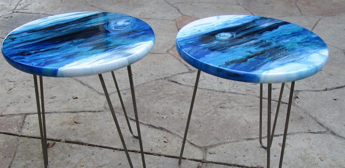 Crystal Sheen Epoxy Resin Tabletop Coating Gallon Kit