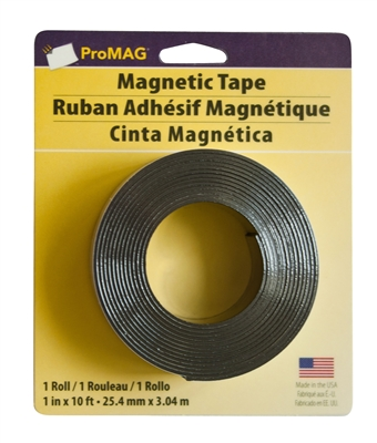 "Magnetic Tape W/Adhesive Coil 1"" X 10' (Qty. 24)"