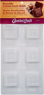 Square w/ Border Knob Molds Reusable (Qty 6 - 1/2 oz cavities)