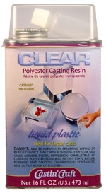 Castin' Craft Clear Polyester Casting Resin (16 oz) W/ 1/2 oz Catalyst