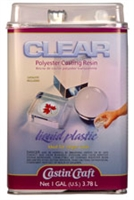 Castin' Craft Clear Polyester Casting Resin (Gallon) w/ 1oz Catalyst