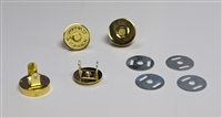 "Magnetic Clasps 3/4"" - Gold Round (Qty. 12)"