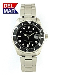 Men's Stainless Steel Classic Dive Wrist Watch, 200 Meter Water Resistant | Del Mar Watches