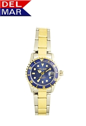 Women's 200 Meter Sport Watch Blue Dial Two Tone Dive Watch | Del Mar Watches