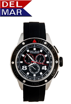 Men's White Nautical Flag Dial Miyota Chronograph Movement Wristwatch available online at Del Mar Watches