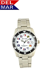 Men's 200 Meter Sport Watch Classic Nautical Dial Stainless Steel | Del Mar Watches