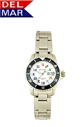 Women's 200 Meter Sport Watch Classic Nautical Dial Stainless Steel | Del Mar Watches