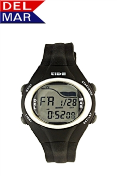 Digital Tide Watch Resin Case, Water Resistant to 50 Meters, Tide Calculator | Del Mar Watches