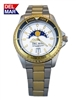 Nautical Analog Tide Watch Two Tone White Dial - 200 Meter Water Resistant | Del Mar Watches