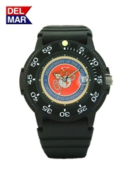 Del Mar Men's Marine Military Sport Dive Watch-Black Case Sport Dive Watch