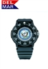 Del Mar Men's Navy Military Sport Dive Watch-Black Case Sport Dive Watch