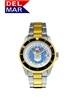 Del Mar Men's Air Force Military Sport Dive Watch-Two Tone Stainless Steel Sport Dive Watch