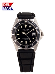Del Mar Men's Sportstrap 200 Meter Water Resistant Watch Black Face - Buy at Del Mar Watches Online