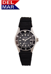 Del Mar Women's Sportstrap 200 Meter Water Resistant Watch Black Face - Buy at Del Mar Watches Online