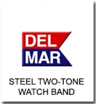 Del Mar Watch Parts | Two Tone Stainless Steel Wristtwatch Band Replacements