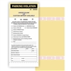 PARKING VIOLATION W/Custom Imprint of Name/Address 2-Part Manila Tag with Tear-Off stub and Adhesive Strips ­ 4.25in. x 9.25in., 50/Pack