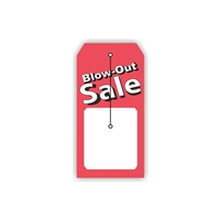 """Blow Out Sale"", 2.375 x 4.75 in., Slit Hang Tag, 500 per shrink pack"